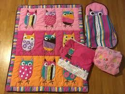 zutano owls 4 piece crib bedding set