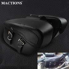 hot deal us 35 99 for 2x motorcycle saddlebag leather motorcycle saddle bags for harley sportster xl 883 xl 1200 for bmw r1200gs outdoor side bag