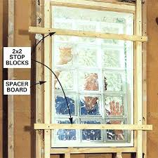 glass block window in shower with vent diy how to install a