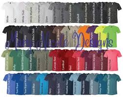 Bella Canvas 3005 Color Chart Every Color Digital File Shirt Color Chart Bella And