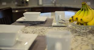 Kitchen Island Place Setting Move Left Close Up camera moves left