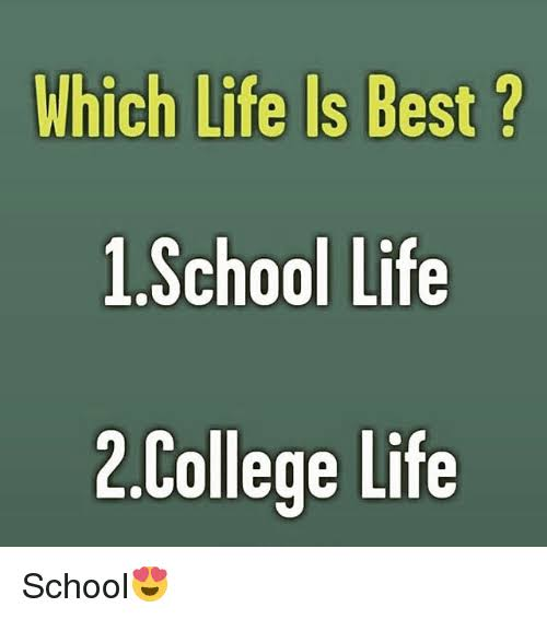 school life is the best life images
