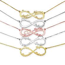 sweey dropshipping infinity necklace for women 2 to 6 names