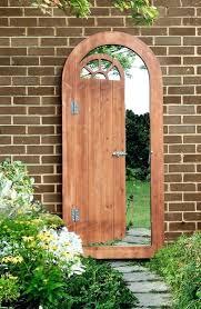 garden mirrors. Garden Mirrors Wooden Illusion Glass Mirror Gate Outdoor Large Perspective Door Effect Gothic Amazon
