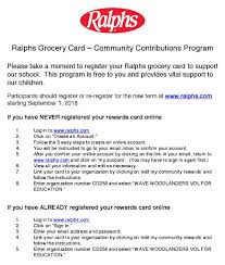 register your ralphs grocery card