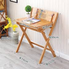 compact foldable table modern bamboo computer desk folding table bamboo furniture