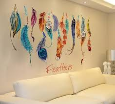 Where To Buy Dream Catchers In Singapore Classic Creative Dream Catcher Feather Wall Sticker Art Decal 78