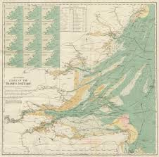 Mystanford Chart Stanfords Chart Of The Thames Estuary 70x70cm 1925 Old Vintage Map Plan