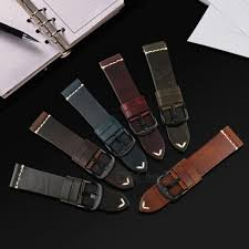 vintage leather strap watch band greased leather watch accessories bracelet 20mm 22mm 24mm red watchband for