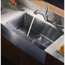 W Kraus KHF20033 33 Inch Farmhouse Apron Single Bowl 16 Gauge Stainless  Steel Kitchen Sink