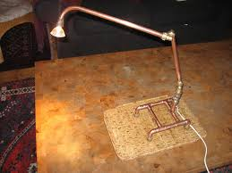 Desk Lamp Made From Old Plumbing Bits 7 Steps