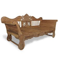 teak bench with carvings