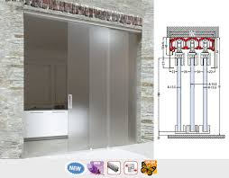 optional fixed pannel for glass doors