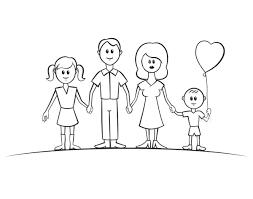 Tranh tô màu gia đình đẹp