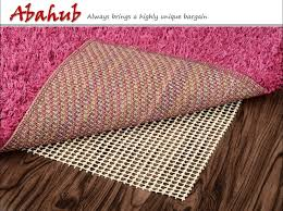 abahub anti slip rug pad 8 10 for under area rugs carpets runners doormats on wood hardwood floors non slip washable padding grips 8 x 10