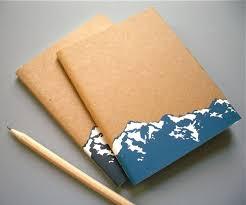 Small Mountain Notebook Journal. Notebook IdeasNotebook DesignSmall ...