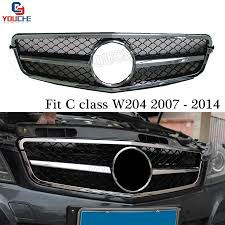 Mercedes c class 2014, grille by genuine®. W204 Front Bumper Grille Mesh For Mercedes C Class W204 2007 2014 C180 C220 C250 C300 C350 Front Grill With Emblem Racing Grills Aliexpress