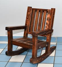 wooden rocking chair. Kid\u0027s Rocking Chair (Options: Old-Growth Redwood, No Cushion, Coffee- Wooden