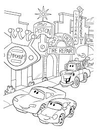 Kleurplaat Cars Bliksem
