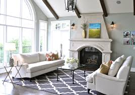 ... Living Room, Living Room Design Using Pottery Barn Room Planner With  Trellis Rug And Fireplace ...