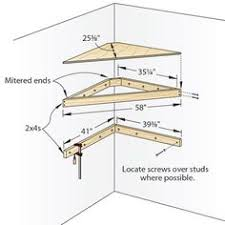 Small Picture This is a design for a corner shelf made of plywood DIY