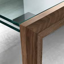 lapsus extendable glass dining table by tonelli  klarity  glass