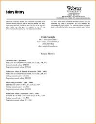 Resume Templates Salary Requirements Resume Online Builder