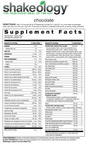 shakeology ings and nutrition facts