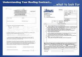 sample roofing contract understanding your roofing contract brady roofing