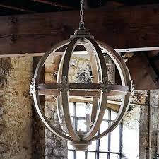 wooden orb chandelier diy
