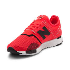new balance shoes red and black. alternate view: mens new balance 247 athletic shoe - bright red/black alt3 shoes red and black c