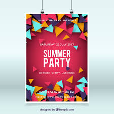 Party Template Summer Party Poster Template Vector Free Download
