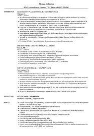 Configuration Management Resume Software Configuration Manager Resume Samples Velvet Jobs 9