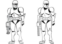 Lego Stormtrooper Coloring Pages Star Wars Page Free Printable Clone