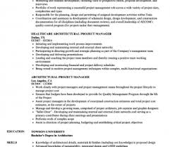 Architectural Project Manager Resume Job Description Architectural Project Manager Resume Samples Velvet Jobs Free