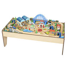 Train Set Table With Drawers Imaginarium All In One Wooden Train Table Toysrus