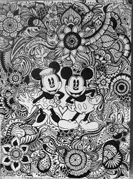 Mickey And Minnie Floral Design By Byjamierose On Etsy Coloring