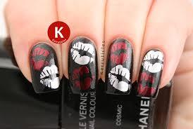 Week Of Love Valentine's Nail Art Challenge: Kisses   Kerruticles