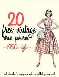 Vintage Dress Patterns 1950s