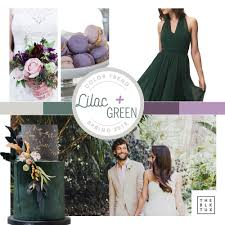 Purple and green wedding colors Lilac Lilac And Green Wedding Color Palette Seattle Wedding Planning The Black Tux Wedding Wise Trending Spring Wedding Color Combination Lilac Green Seattle