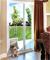 sliding glass door dog pet doors energy contractors fantastic for and frame built into