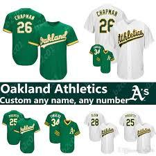 Men S Athletics Matt Chapman Khris Davis Matt Olson Rickey Henderson Blake Treinen Mike Fiers Oakland Jersey