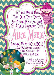 How To Make A Baby Shower Invitation On Microsoft Word Cool Baby Shower Invitations Brilliant Alice In Wonderland Baby Shower