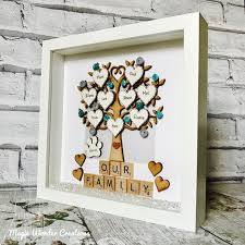 famiy tree gift personalised family tree gift frame up to 12 family tree gifts design