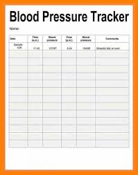 Blood Pressure Tracking Spreadsheet Blood Pressure Recording Chart Template Business