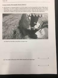 Exam 3 Erosion Control Permissible Velocity Meth