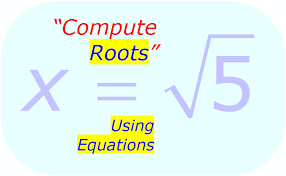 calculate square root using equations