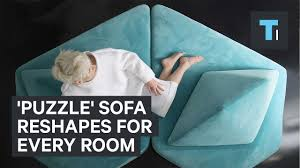 Puzzle Sofa Puzzle Sofa Reshapes For Every Room Youtube