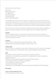 Sample Business Analyst Resume Free Sample Business Analyst Resume Templates at 44