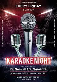 Karaoke Night Flyer Template Karaoke Night PSD Flyer Template Psd Flyer Templates Flyer 10